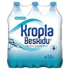 Woda Kropla Beskidu  0,5L/1,5L  GAZ/NGAZ/LGAZ